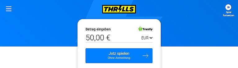 Thrills Casino mit Pay N Play