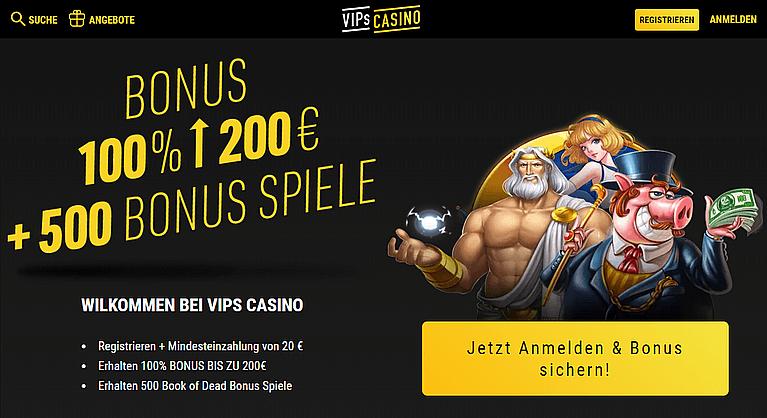 VIPs Casino Bonus