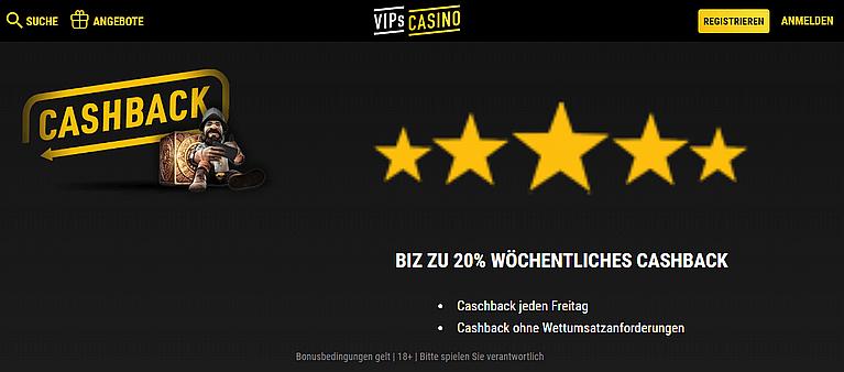 VIPs Casino Cashback Bonus