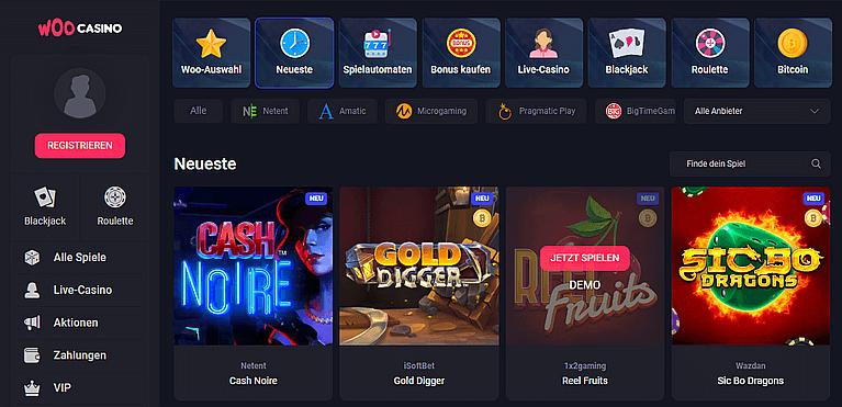Woo Casino Spiele