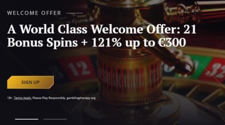 21 casino welcome bonus
