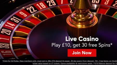 Virgen live casino bonus