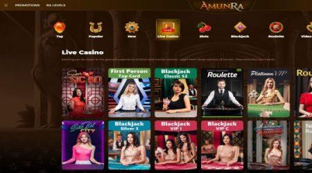 AmunRa live casino.