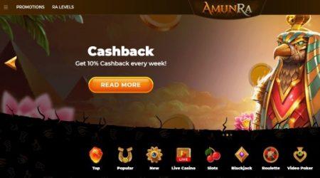 AmunRa weekly cashback.