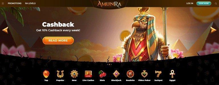 AmunRa-weekly-cashback