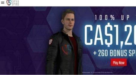 Captain spins welcome bonus.