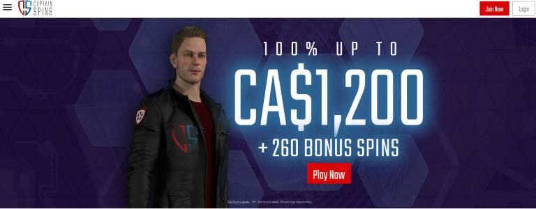 Captain-spins-welcome-bonus
