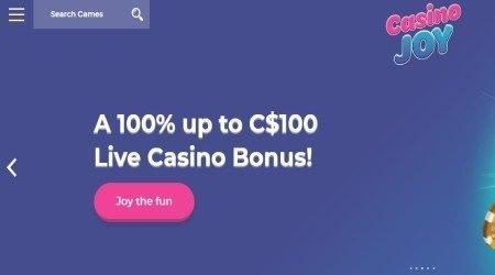 Casino Joy Live Casino Bonus.