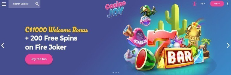 Casino-joy-welcome-bonus
