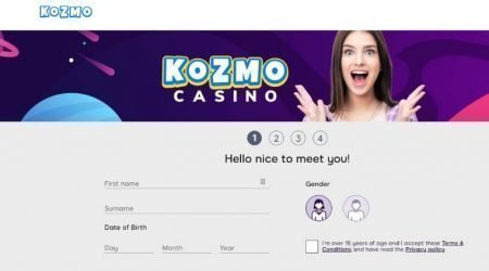 kozmo casino screenshot