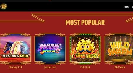Metal Casino games selection