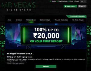 MrVegas Casino Welcome Offer