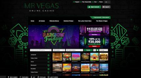 Mr Vegas Casino Homepage