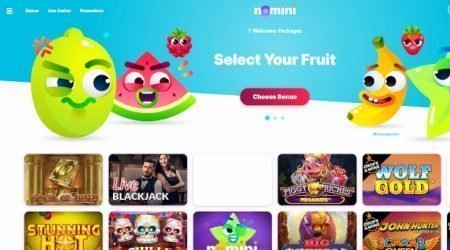 Nomini Casino Homepage Screenshot