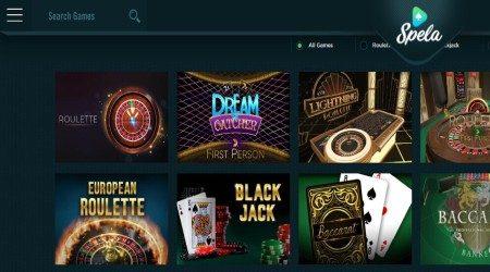 Spela Casino Games.