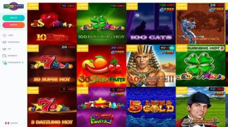 Spinia jackpot games.