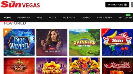Sun Vegas Casino Games