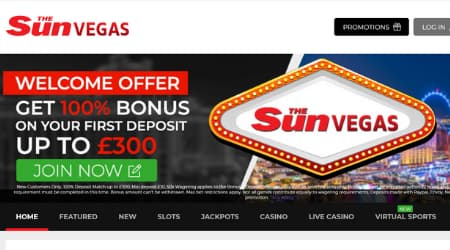 Sun Vegas Casino Welcome Bonus
