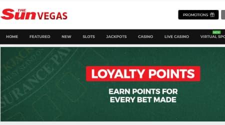 Sun Vegas Casino Loyalty program