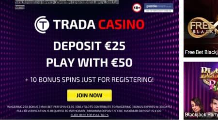 Trada Casino Welcome Bonus