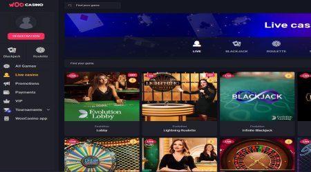Woo casino live casino.