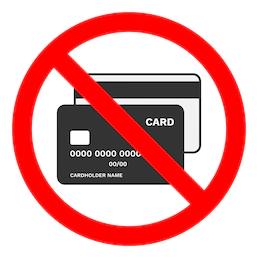Keine Kreditkarten Icon