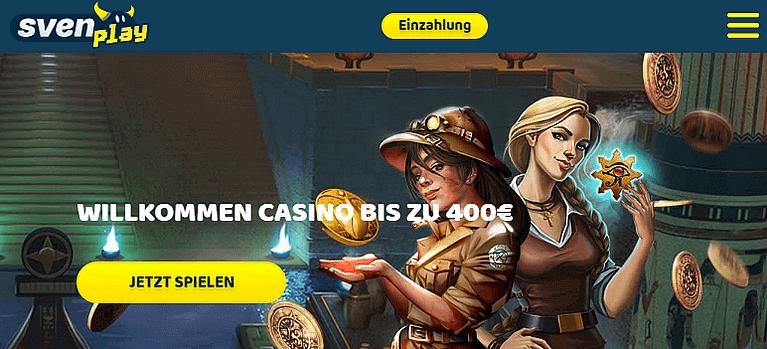 SvenPlay Casino Bonus für Neukunden