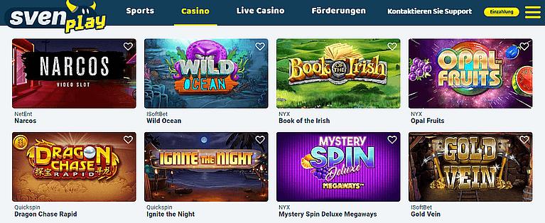 SvenPlay Casino Spiele