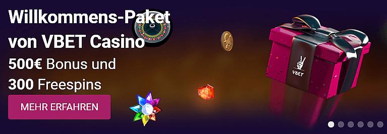VBet Casino Bonus für Neukunden