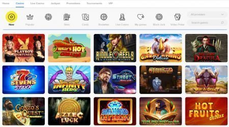 Light Casino India Game Selection