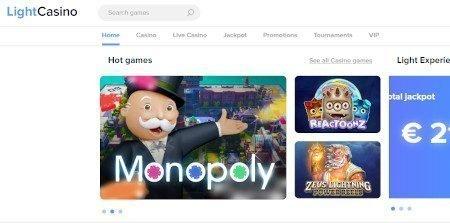 Light Casino India Homepage