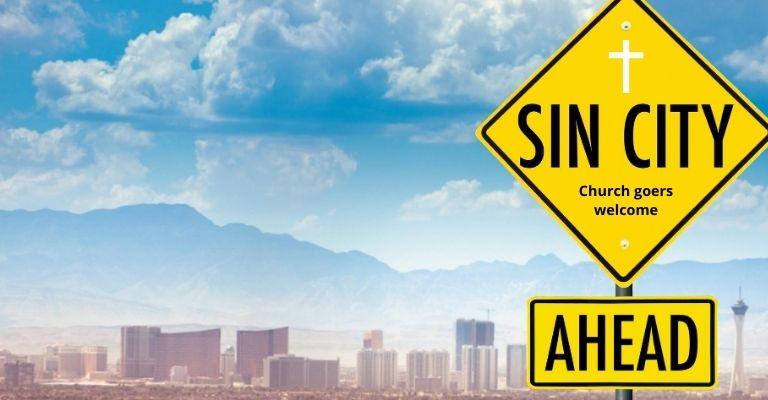 Church goers flock to casinos in Sin City