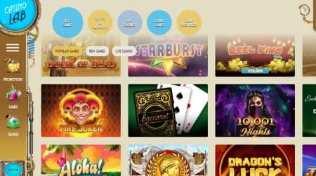 Casino Lab online games