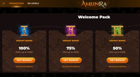 amunra casino welcome offer