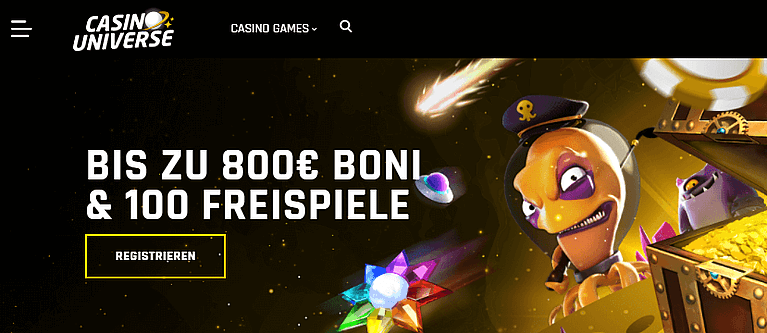 Casino Universe Bonus für Neukunden