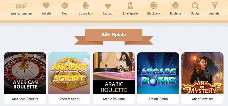 Cookie Casino Spiele