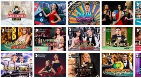evolve casino live games