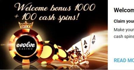 evolve casino cashback