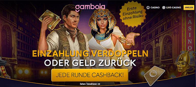 Gambola Casino Bonus für Neukunden - Cash Bonus