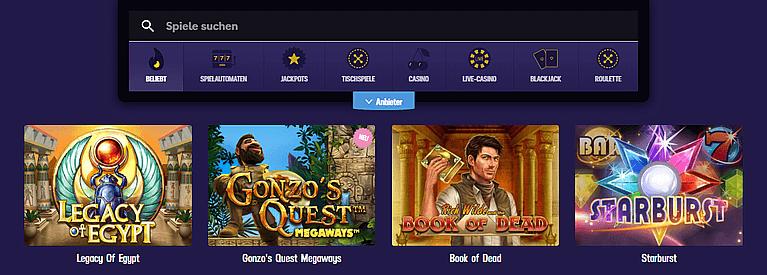 Gambola Casino Spiele und Slots