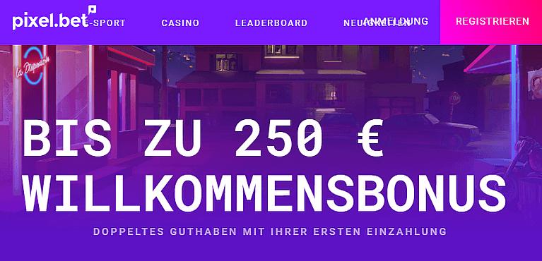 Pixelbet Casino Bonus für Neukunden