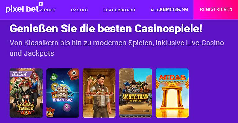 Pixelbet Casino Spiele