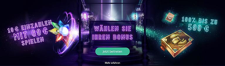 Rush Spielbank Bonus