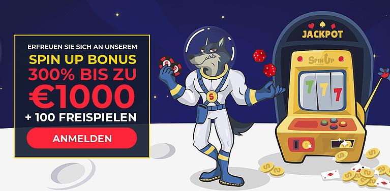 SpinUp Casino Bonus für Neukunden