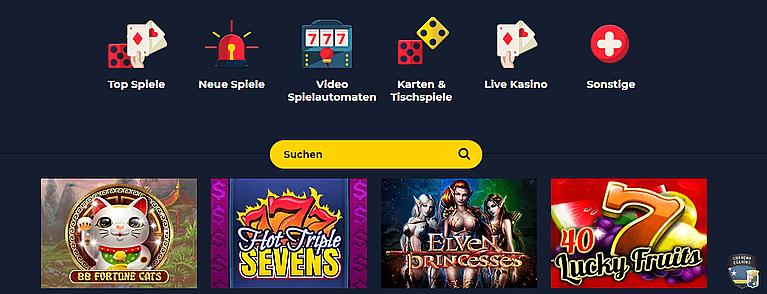 SpinUp Casino Spiele und Slots