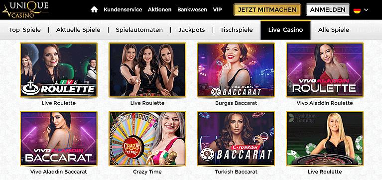 Unique Live Casino