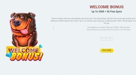 wills casino welcome bonus