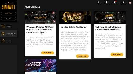 Shadowbet Casino for Canadian players