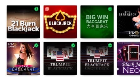 Casino Rocket table games