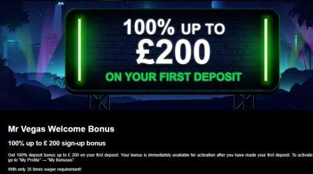Mr. Vegas casino bonus